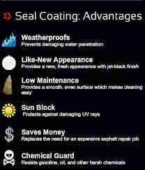 seal coat advantages