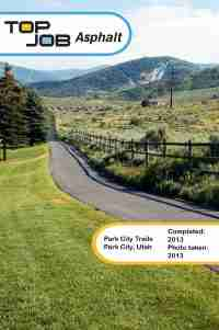 Top Job Asphalt - Park City Trails 2013 Sealcoat