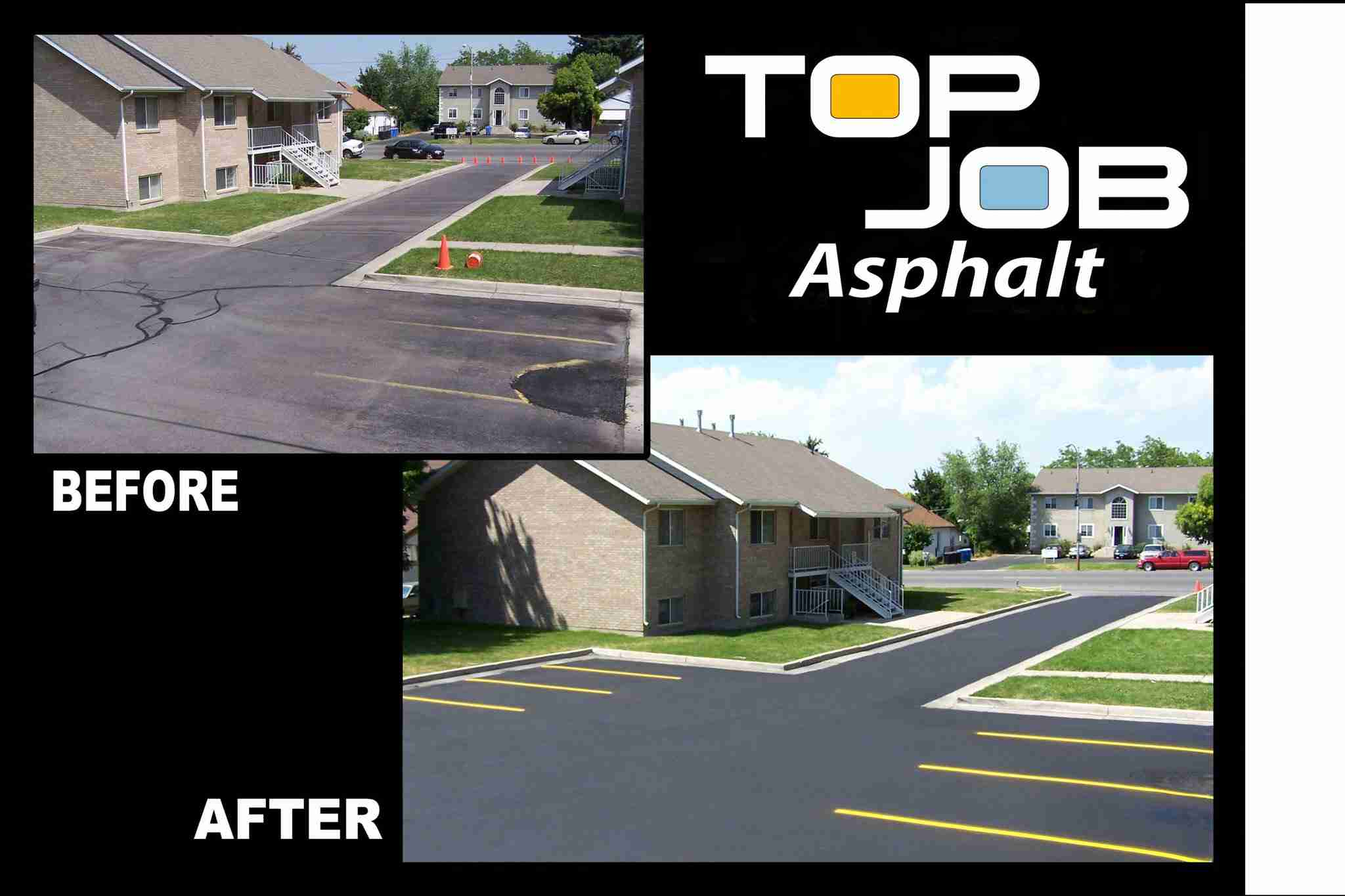 Apartments before and after - Top Job Asphalt