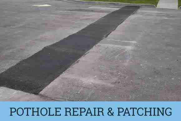 Pothole repairs and asphalt patching