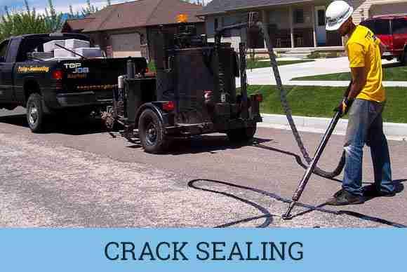 municipal asphalt crack sealing